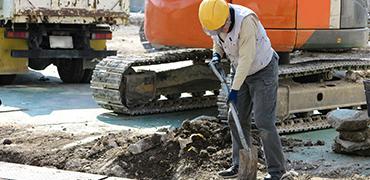 地中障害物による追加工事イメージ