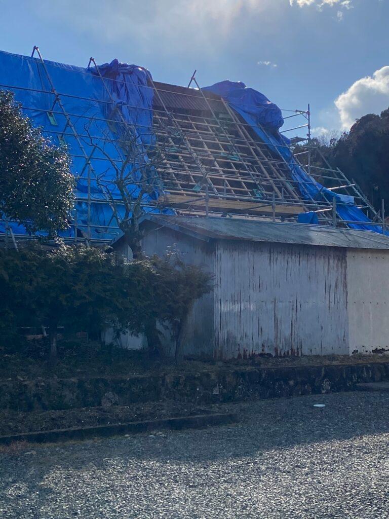福知山市 古民家屋根改修工事